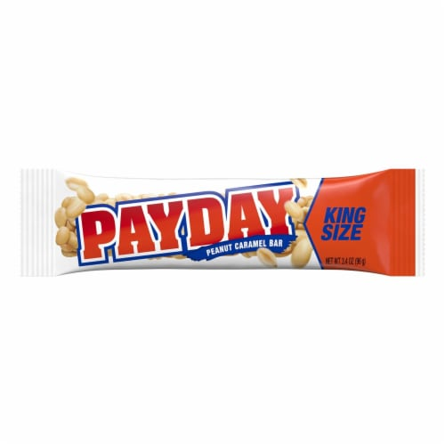 Payday King Size Peanut Caramel Bar Perspective: front