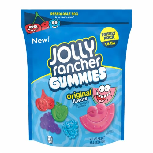 Jolly Rancher Original Flavors Gummies Family Pack Perspective: front