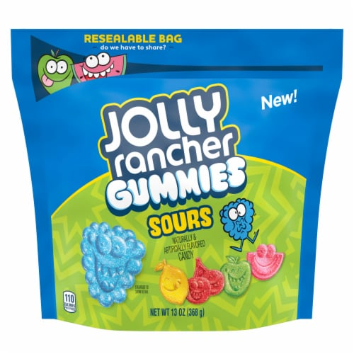 Jolly Rancher Sours Gummies Perspective: front