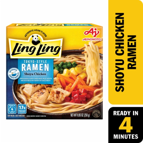 Ling Ling Shoyu Chicken Tokyo Style Ramen Perspective: front