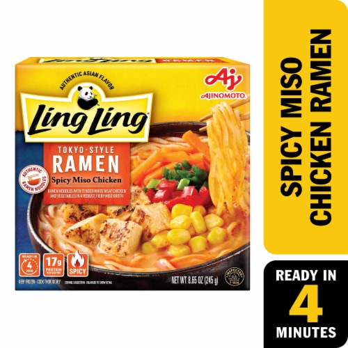 Ling Ling Spicy Miso Chicken Tokyo Style Ramen Perspective: front