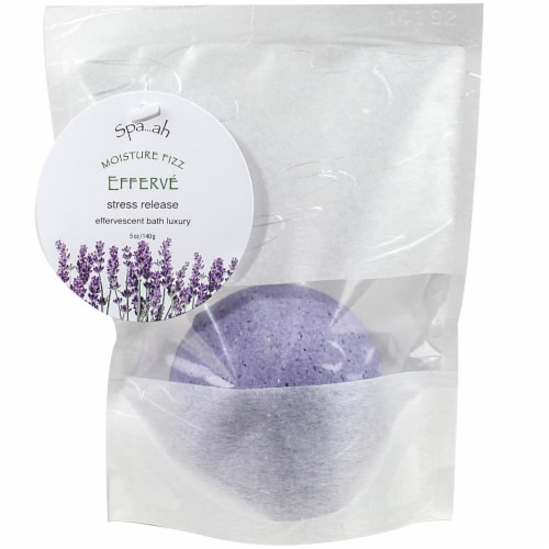 EffervE Bath Effervescent Stress Release Lavender Moisture Fizz Perspective: front