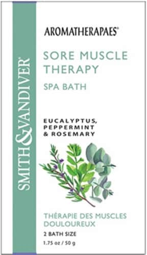 Smith & Vandiver Aromatherapaes Sore Muscle Therapy Eucalyptus Peppermint & Rosemary Spa Bath Perspective: front