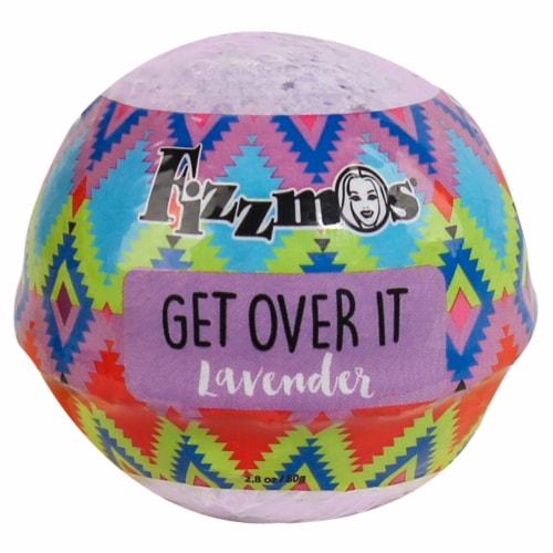 Fizzmos Get Over It Lavender Bath Bomb Perspective: front