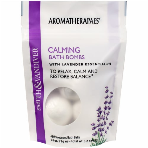 Smith & Vandiver Aromatherapaes Lavender Stress Relief Bath Bombs Perspective: front