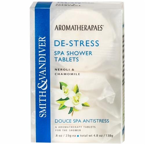 Smith & Vandiver De-Stress Spa Shower Tablets Perspective: front