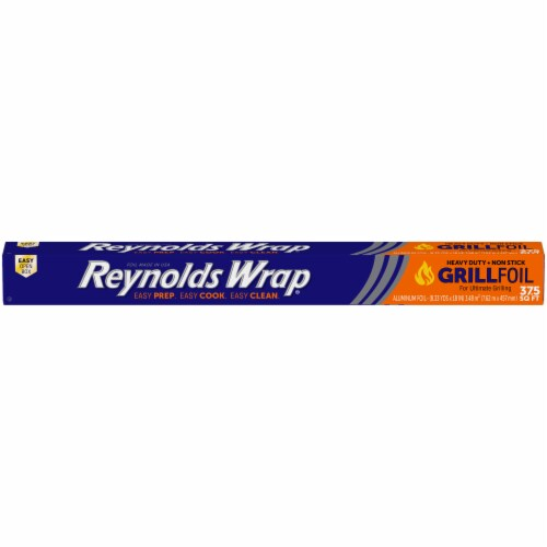 Reynolds Wrap Grill Heavy Duty Non-Stick Aluminum Foil Perspective: front