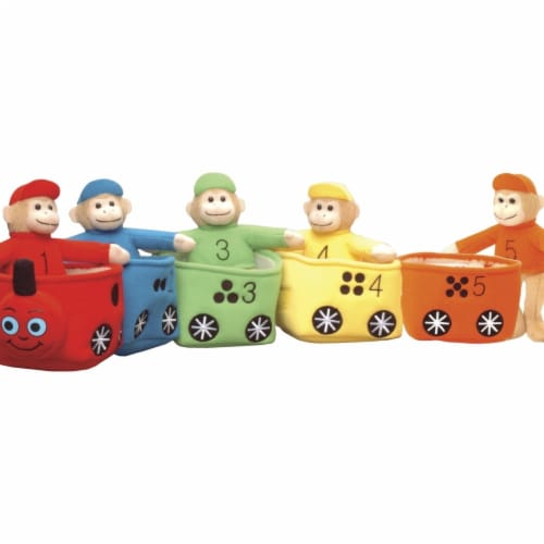 Marvel Education 1532162 Marvel Education Play & Learn Monkey Train, Set of 5 Perspective: front