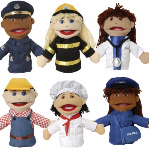 Marvel Education 2010234 Career Moveable Mouth Puppets - Set of 6 Perspective: front