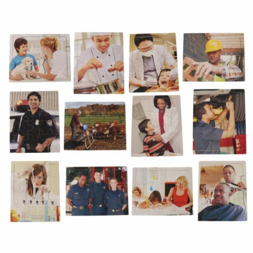 Marvel Education 2025534 Real Photo Career Puzzles - Set of 12 Perspective: front