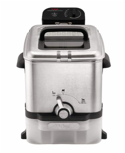 T-fal EZ Clean Stainless Steel Deep Fryer - Silver/Black Perspective: front
