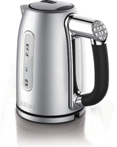 Krups Adjustable Temperature Stainless Steel Kettle - Silver/Black Perspective: front