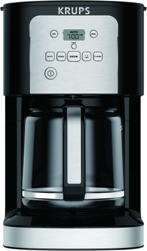 Krups ThermoBrew Programmable Coffee Maker - Black/Silver Perspective: front