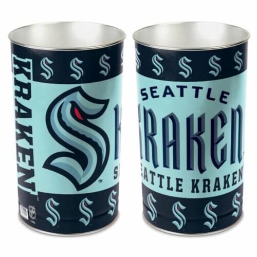Wincraft 1094305958 15 in. Seattle Kraken Wastebasket Perspective: front