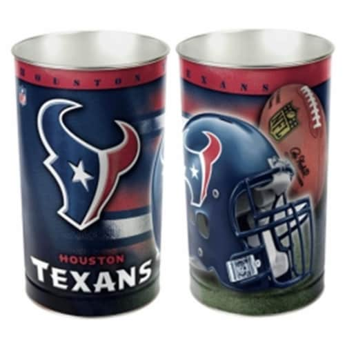 Houston Texans Wastebasket 15 Inch Perspective: front