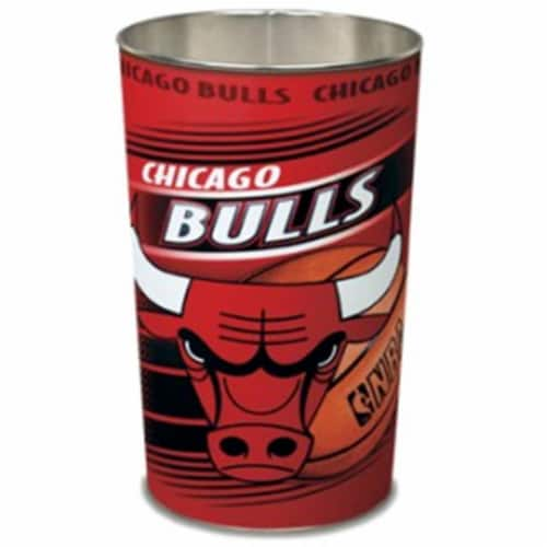 Chicago Bulls Wastebasket 15 Inch Perspective: front