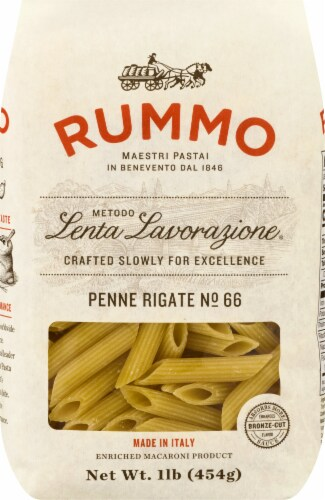 Rummo Penne Rigate No. 66 Pasta Perspective: front