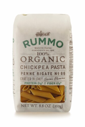Rummo Organic Chickpea Penne Rigate Pasta Perspective: front
