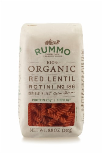 Rummo Organic Red Lentil Rotini Perspective: front