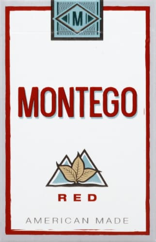Montego Red Cigarettes Perspective: front