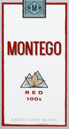 Montego Red 100s Cigarettes Perspective: front