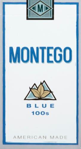 Montego Blue 100s Cigarettes Perspective: front