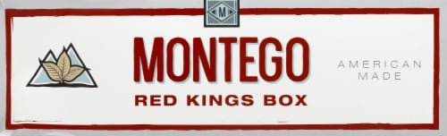 Montego Red Kings Box Cigarettes Perspective: front