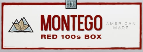 Montego Red 100s Box Cigarettes Perspective: front