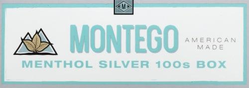 Montego Menthol Silver 100s Cigarettes Perspective: front