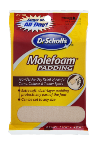 Dr Scholl's Molefoam Padding Perspective: front