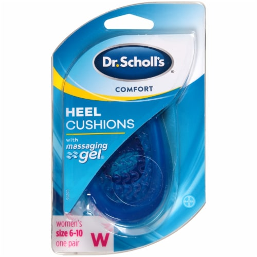 Dr. Scholl's Women's Comfort Heel Cushions with Massaging Gel Size 6-10 Perspective: front
