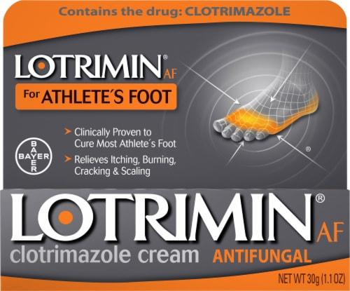 Lotrimin Anti-Fungal Athlete's Foot Clotrimazole Cream Perspective: front