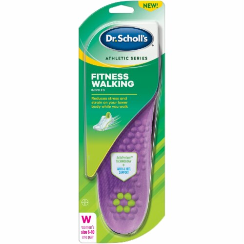Dr. Scholl's Women's Fitness Walking Insoles Perspective: front