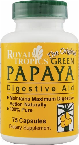 Royal Tropics  The Original Green Papaya Digestive Aid Perspective: front