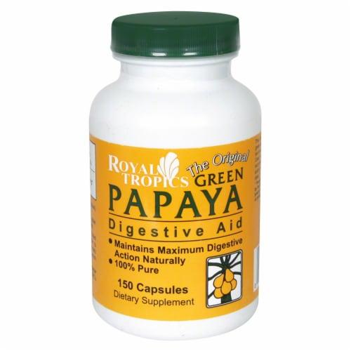 Royal Tropics Green Papaya Digestive Aid Capsules Perspective: front