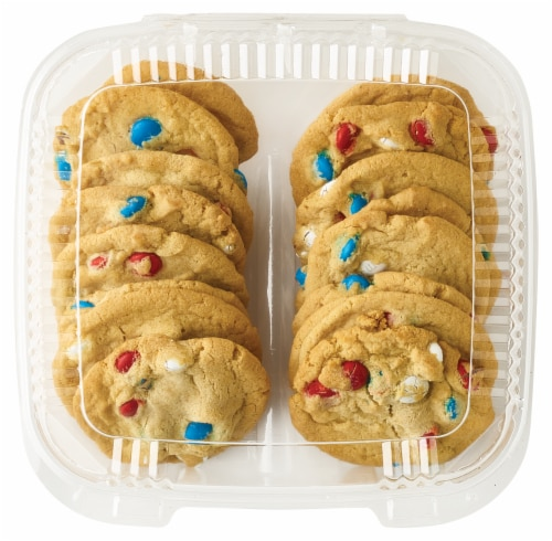 Bakery Fresh Goodness Red White & Blue Cookies Perspective: front
