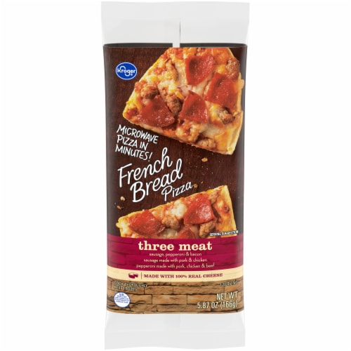 Kroger® Three Meat French Bread Pizza Perspective: front