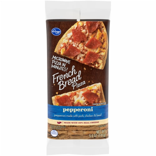 Kroger Pepperoni French Bread Pizza Perspective: front