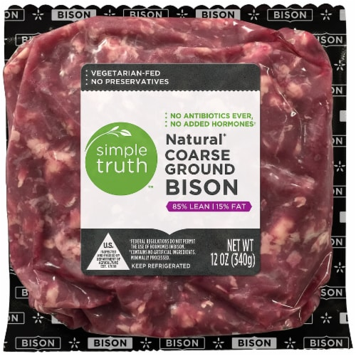 Simple Truth™ 85% Lean Natural Coarse Ground Bison Perspective: front