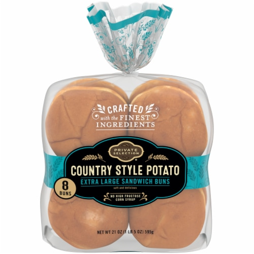 Private Selection™ Country Style Potato Extra Large Sandwich Buns 8 Count Perspective: front