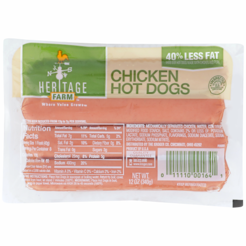 Heritage Farm™ Chicken Hot Dogs Perspective: front