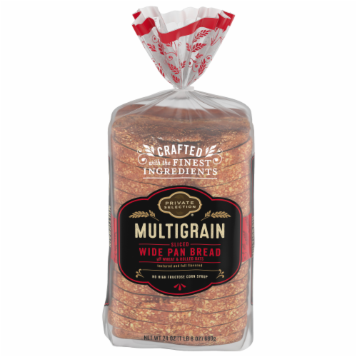 Private Selection® Multigrain Sliced Wide Pan Bread Perspective: front