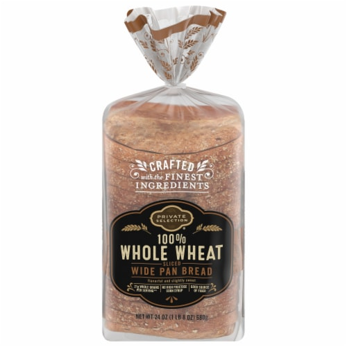 Private Selection® 100% Whole Wheat Sliced Wide Pan Bread Perspective: front