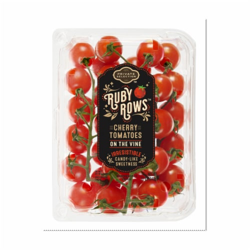 Private Selection™ Ruby Rows™ Cherry On-The-Vine Tomatoes Perspective: front