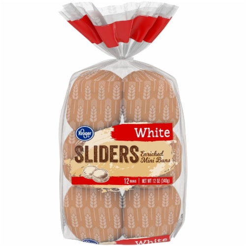 Kroger® White Sliders Mini Buns Perspective: front