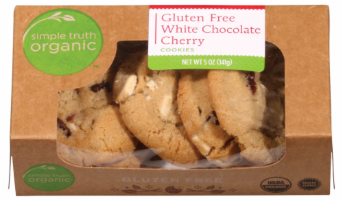 Simple Truth Organic™ Gluten Free White Chocolate Cherry Cookies Perspective: front