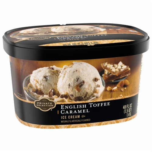 Private Selection® English Toffee Caramel Ice Cream Perspective: front