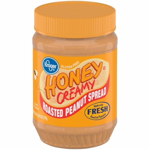 Kroger® Honey Creamy Roasted Peanut Spread Perspective: front