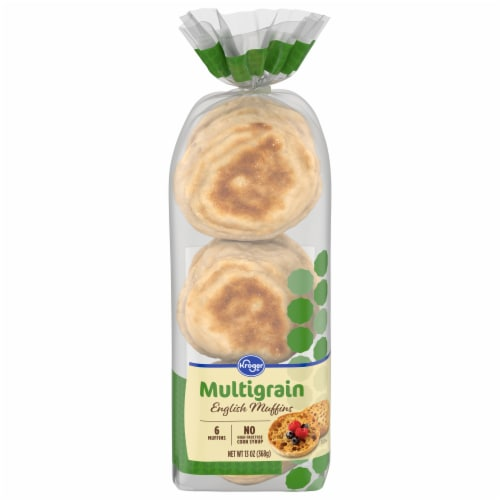 Kroger® Multigrain English Muffins 6 Count Perspective: front