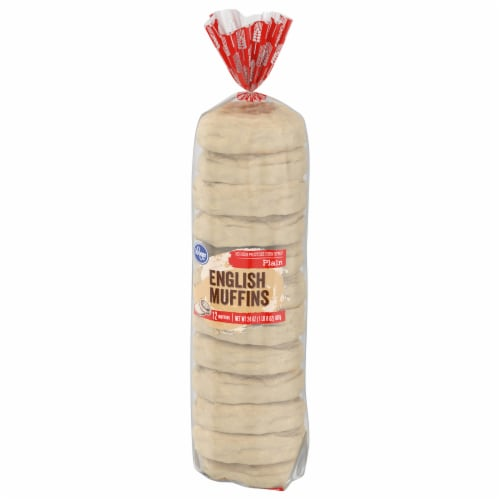 Kroger® Plain English Muffins 12 Count Perspective: front